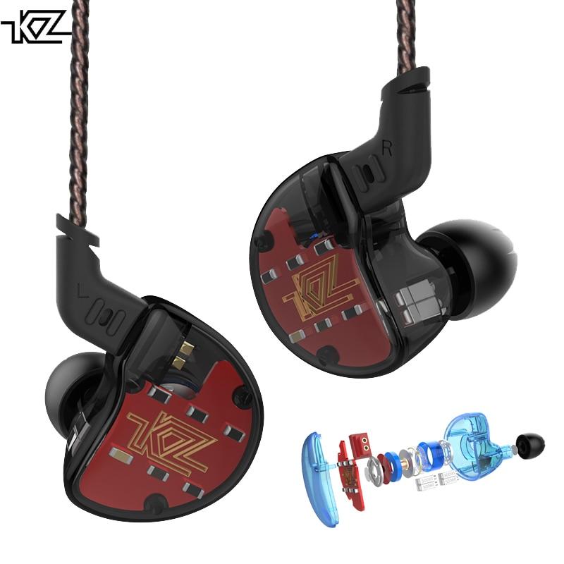 KZ ZS10 4BA Avec 1 Dynamique Hybride Dans L'oreille Casque HIFI Basse Casque DJ Moniteur Écouteurs 5 Unité D'entraînement Casque intra-auriculaires Bruit Annuler