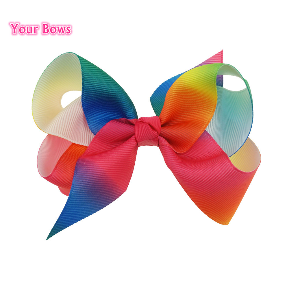 bows 4inch 9 colors rainbow