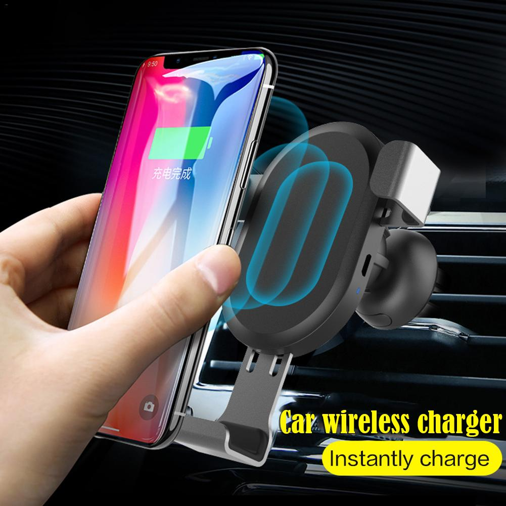 Car Wireless Charger QI Wireless Charger Mobile Multifunction Car Gravity Stand Wireless Charger