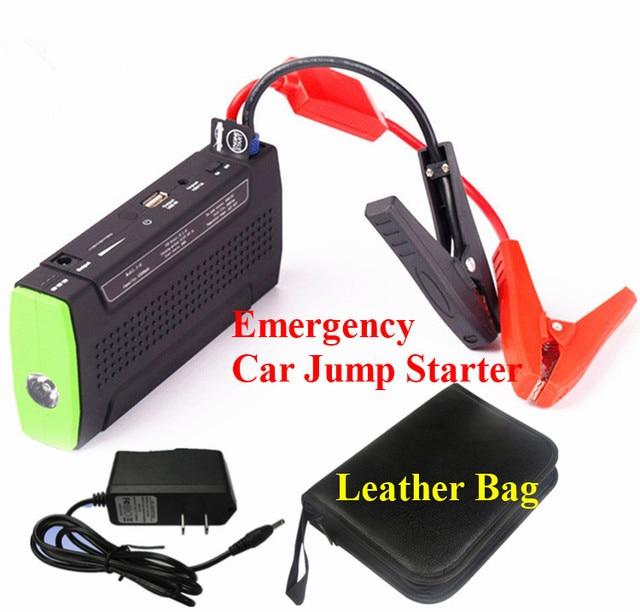 Emergency 9900mAh Car Jump Starter PortableMini 12V Car Battery Booster Starter 2A Phone Laptop Power Bank LED Lights  Free Ship