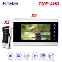 Видеодомофон homeeye 720p ahd видеодомофон 2 6 для дома система