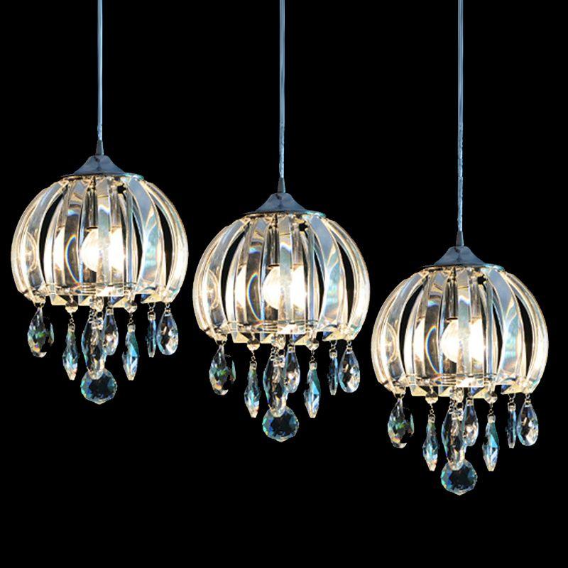 Jellyfish Shape Crystal Dining Room Pendent Light Modern
