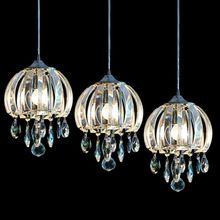 Jellyfish Shape Crystal Dining Room Pendent Light Modern Kitchen Cafe Bar Pendent Light Restaurant Hanging Lamp