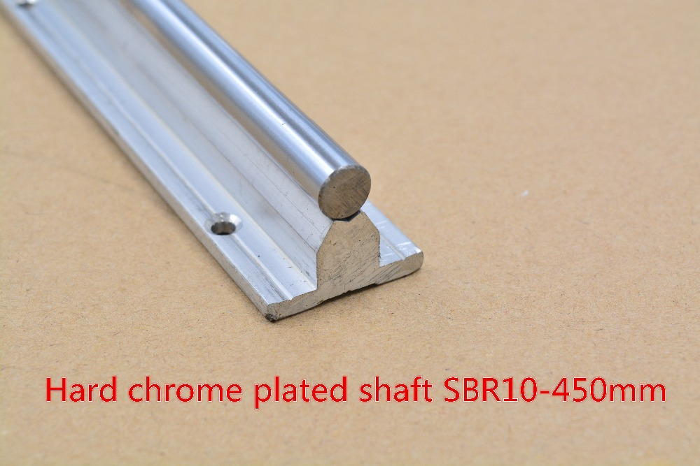 SBR10 linear guide rail length 450mm chrome plated quenching hard guide shaft for CNC 1pcs