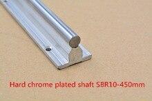 SBR10 линейной направляющей длина 450 мм хромированный тушения жесткий руководство вал для ЧПУ 1 шт.