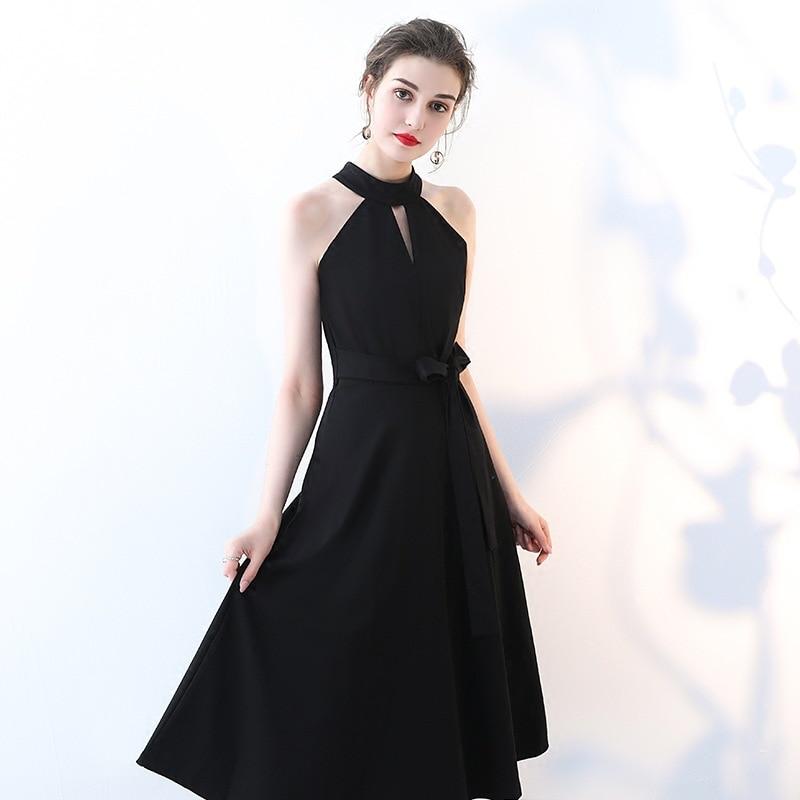 New Black Sexy Neck   Bridesmaid     Dresses   2019 Formal Long Wedding Party Prom Reflective   Dress   robe de soiree vestido de noiva
