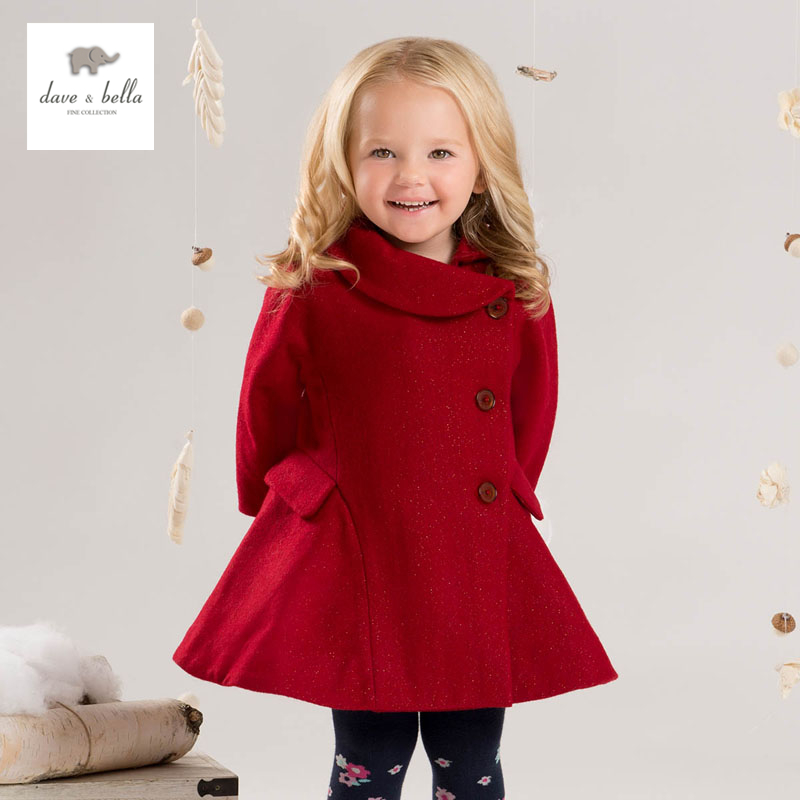 DB4038 dave bella  baby girls red wool blends Aline outerwear набор jtc 4038