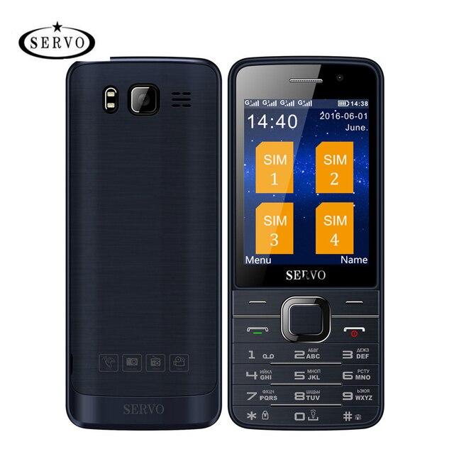 2e87eab8e53 Hot Sale Original Servo V9500 Quad SIM Cards 2.8 inch HD Mobile Phone GPRS  Bluetooth vibration MP4