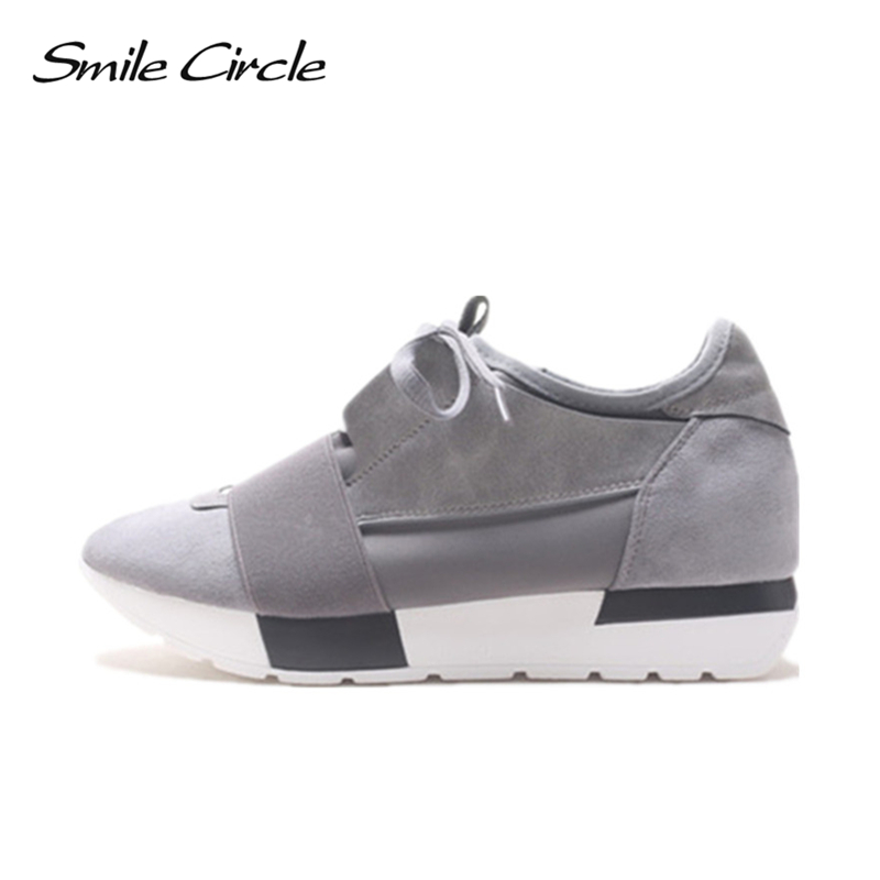 Smile Circle Spring Autumn Shoes Women Fashion Pointed toe Lace-up Sneakers For Women Flat Casual Platform Shoes tenis feminino smile circle spring autumn sneakers women lace up flat shoes for women fashion rhinestones casual platform shoes flat shoes girl
