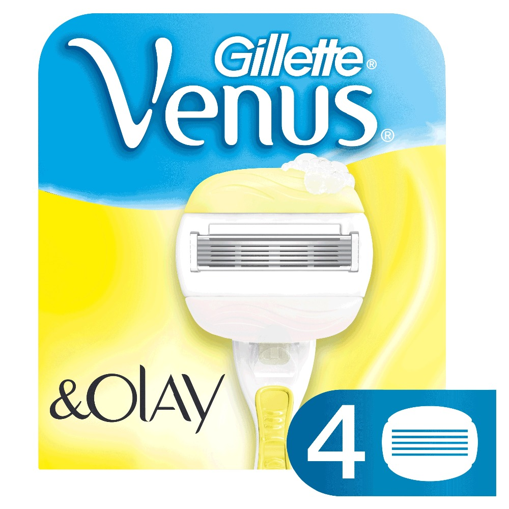 Replaceable Razor Blades for Women Gillette Venus Olay Cassettes Shaving Venus shaving cartridge 4 pcs vermeiren venus 4