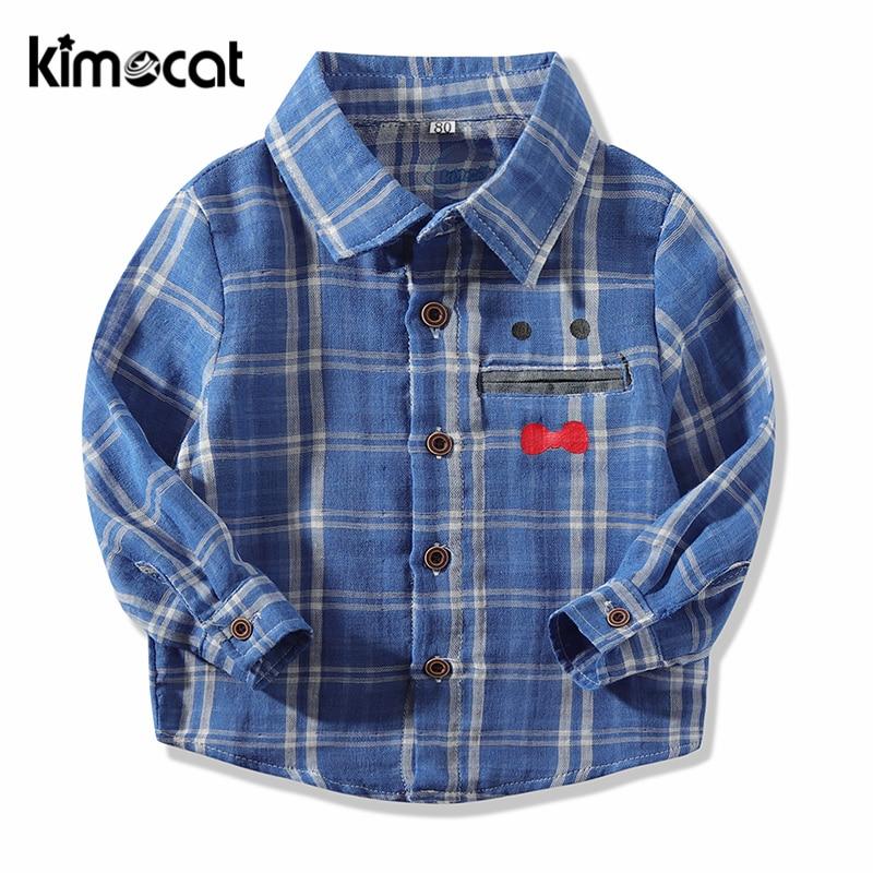 Deskundig Kimocat Baby Boy Kleding Lange Mouwen Lente Herfst Katoen Hoge Kwaliteit Baby Boy Shirt Kid Kleding Knappe Clas'si'c Plaid Shirt