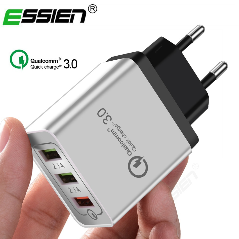 1/3 Port USB Charger Travel Adapter For