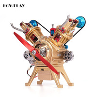 HowPlay Gasoline Engine model V2 metal mechanical assembly model souptoys assembly toy teaching Educational Toy Collection gift