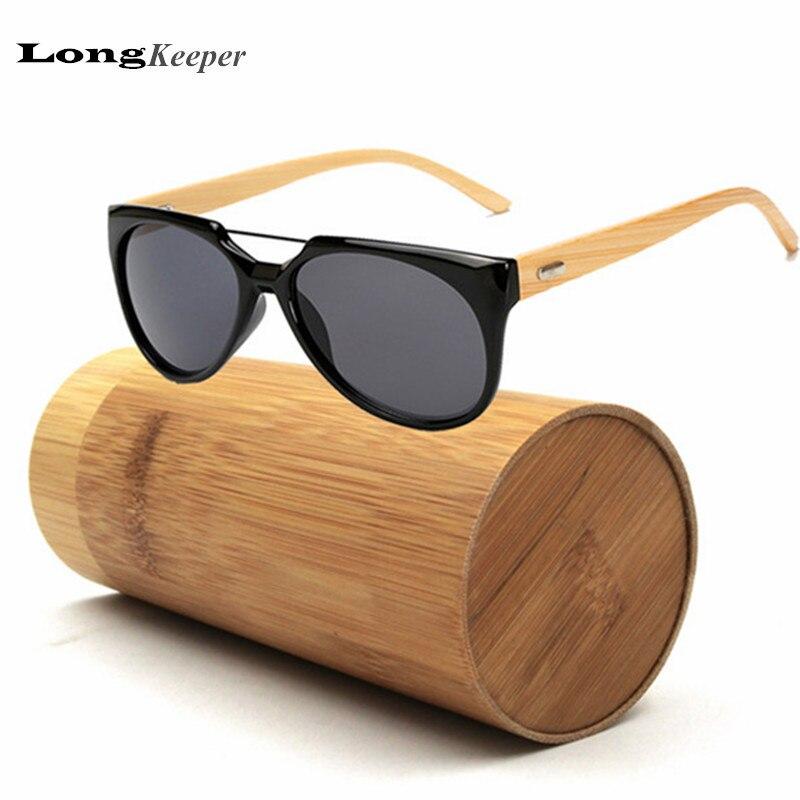 315efbbd4aee6 LongKeeper Bambu Madeira Óculos De Sol para Mulheres Dos Homens 2017 Novo  Olho de Gato Óculos de Sol Óculos De Sol Com Caso De Bambu De Madeira Real  K1526