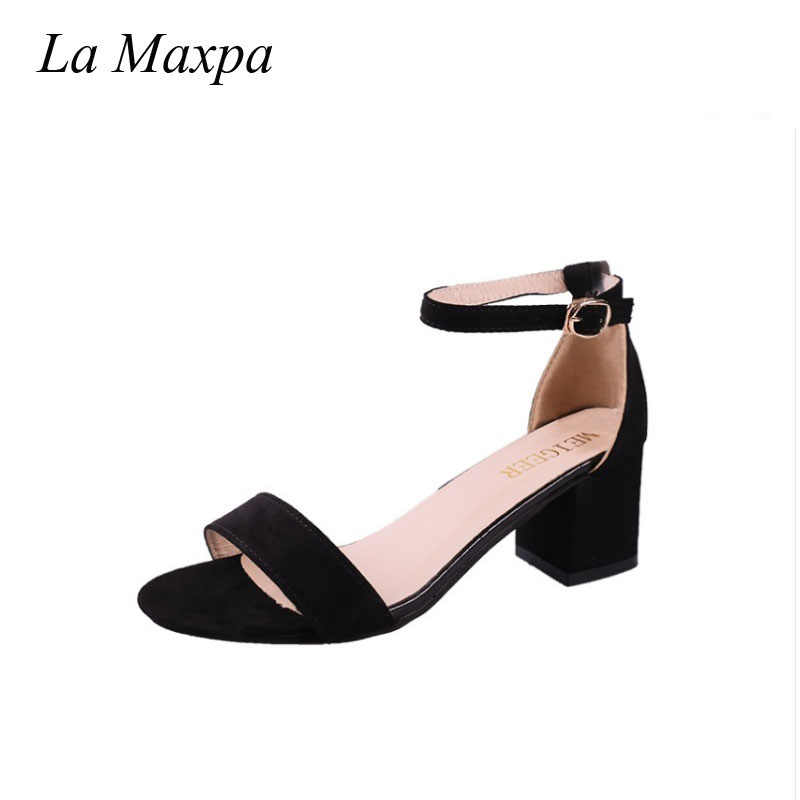 3d101674c2f La MaxPa Ms. Sexy Heeled Shoes 2018 Sandals Spanish Summer Style ...