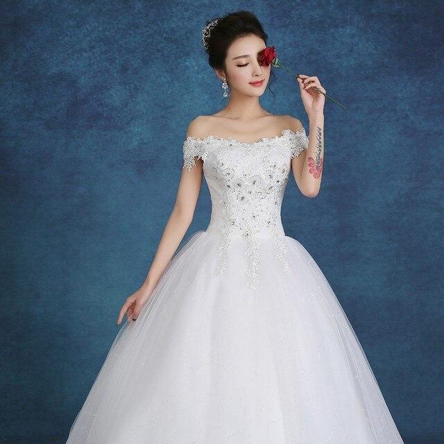 744129e3c33 Summer 2016 New Arrive Korean Style Vintage Lace Wedding Dress Boat