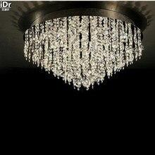 Luces de Techo de oro adornos de hoteles de lujo, cromo pulido cristal dormitorio de la lámpara D80cm x H36cm