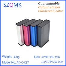 4 шт., szomk сплит алюминия для pcb алюминия электрический шкаф ящик шкафа 33*96*140 мм распределительная коробка из алюминия коробка переключения