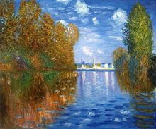 Autumn at Argenteuil by Claude Monet Handpainted