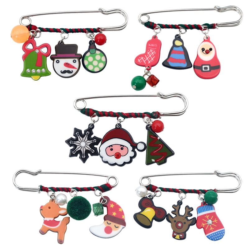 2dddfcace81 Detail Feedback Questions about Christmas Brooches For Women Enamel Gloves  Snowman Santa Claus Boot Bell Brooch Enamel Pin Woolen Winding Xmas Brooches  ...