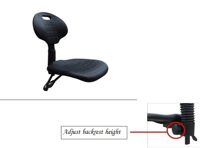 Laboratory chair Foot nail type lift and rotation Adjustment backrest height