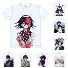 Makoto Naegi Kyoko kirigri футболка Danganronpa V3 Killing Harmony Мужская Повседневная футболка премиум-класса футболка с коротким рукавом и принтом