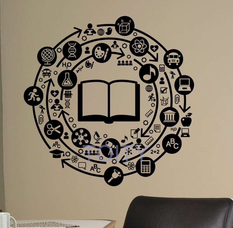 Wall Decal Education School Vinyl Sticker Library Classroom Home Interior Living Room Ch ...