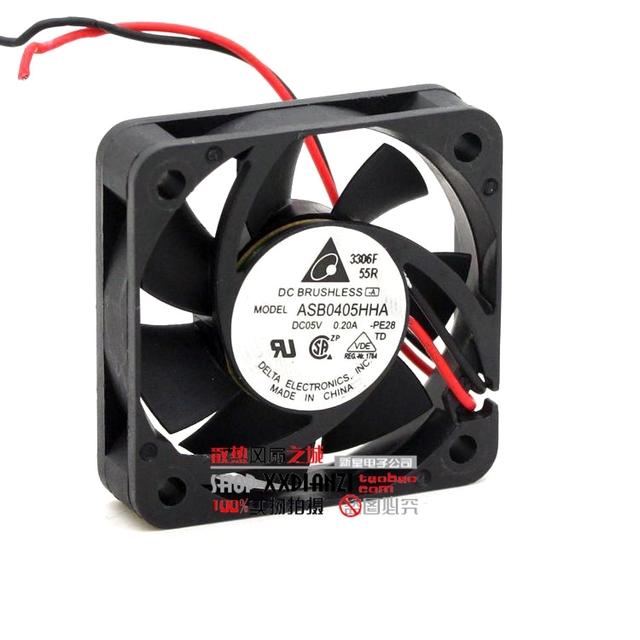 ASB0405HHA originais 4010 5 V 0.20A 4 CM dois fios ventilador de refrigeração