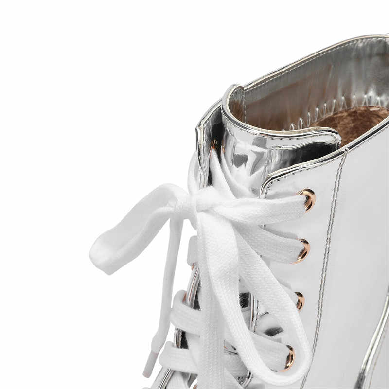 ASUMER 2019 ใหม่รองเท้าผู้หญิงรอบ Toe Lace Up LADIES รองเท้าซิป Casual Wedges รองเท้า Elegant ของแท้หนังรองเท้าผู้หญิง