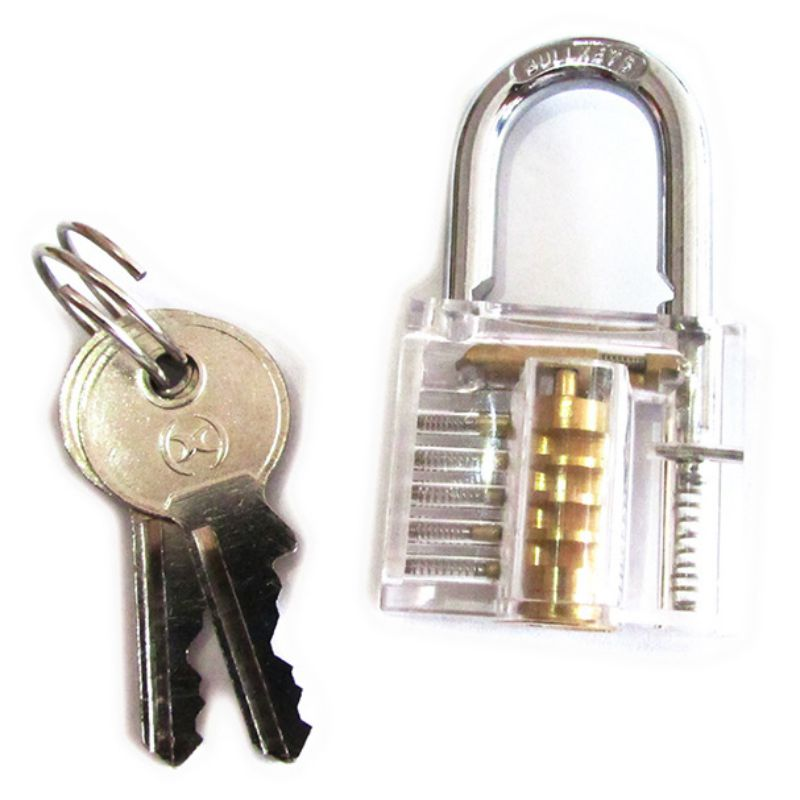 NED Beautiful Design Modern Style Transparent Visible Pick Cutaway Mini Practice View Padlock Lock Training Skill
