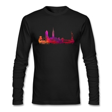 Custom Pre-cotton New York City Long Sleeve Men's Normal Winter T Shirts Hot Selling