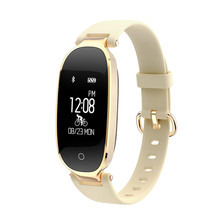 Fashion S3 Bluetooth Waterproof Women Smart Watch, Heart Rate Monitor, Fitness Tracker for Android & iOS