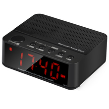 Wireless Bluetooth Speakers Alarm Clock FM Radio 3.5 inch LED Screen