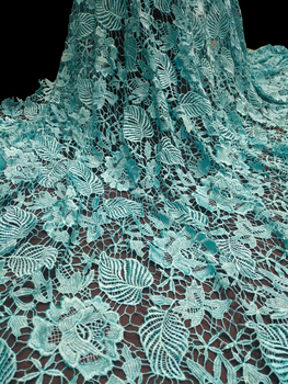 Free Shipping 2019 french lace fabric high quality fashion african french tulle net lace fabric 5yards/pc for dresss A