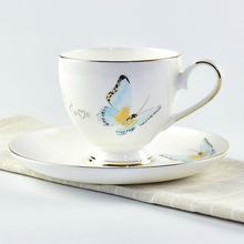 Chinese bone china coffee cup and saucer Ceramic coffee set Creative simple coffee cup set 1 cup 1VCD