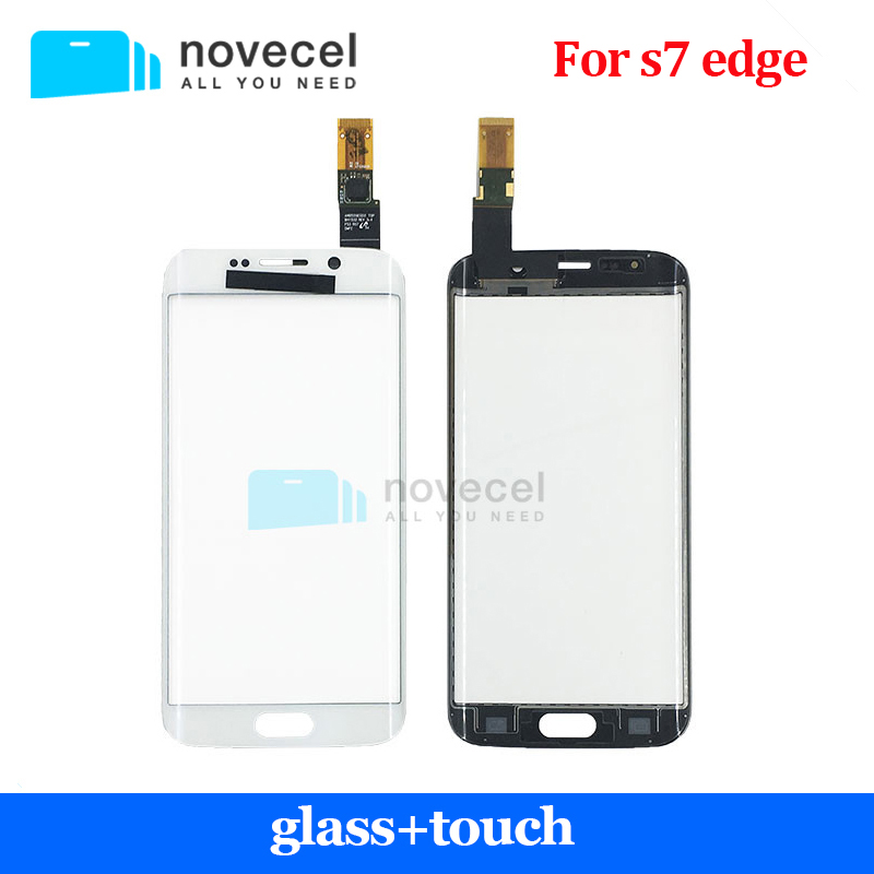 все цены на 1 pcs Novecel Touch Screen Digitizer For S7 Edge/G935F  Touch Sensor Glass Panel Replacement repair part онлайн