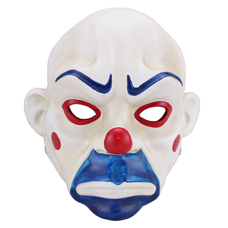 Resin Mask Adult Scary Batman Joker Clown Bank Robber Movie Mask Dark Knight Cosplay Halloween Masquerade Party Fancy Costume