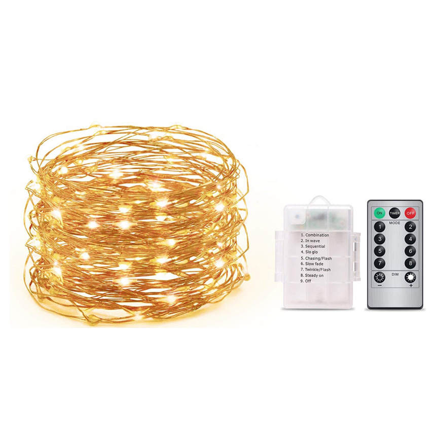 New Hot 1pc Outdoor 5M 50 LEDs Waterproof Batteries Home Decoration Parties Weddings Dropshipping July#3
