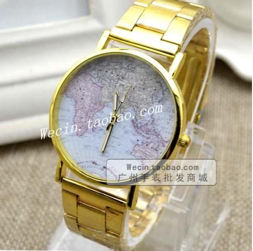 Women Men Unisex Fashion Vintage Casual World Map watches By Full Stainless Steel Analog Quartz Wrist Watch Children and adults lovesky fashion 2016 unisex watches women men casual leather analog stainless steel quartz wrist watch dress watch relogio clock