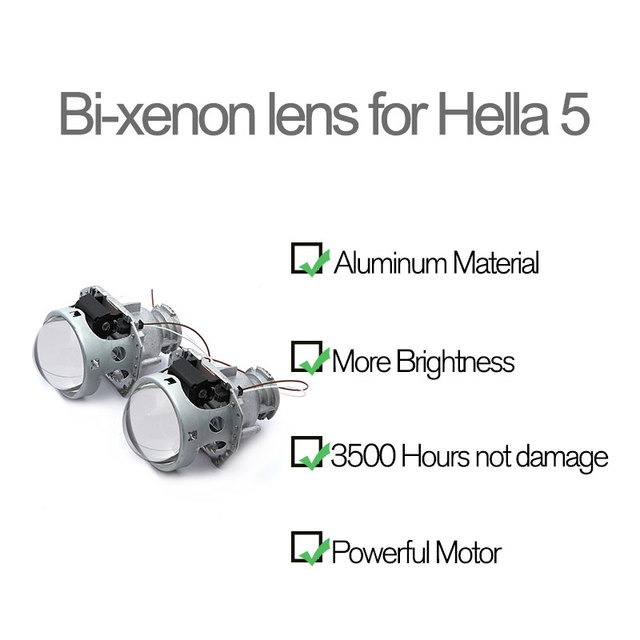 Royalin metal para hella 3r g5 bi xenon faróis lente d2s luzes do projetor lâmpada carro universal d1s d2h d3s d4s lâmpadas retrofit 1