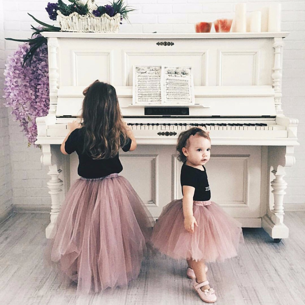Fluffy Soft Baby Tulle Girl Tutu Skirts Pettiskirt Kids Princess Clothes Birthday Gift Toddler Ball Gown Party Children Skirt