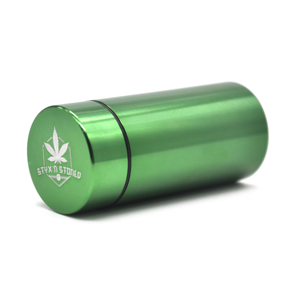 Stash Jar - Airtight Smell Proof Aluminum Herb Container Ceramic Smoking Pipe Herb Grinder