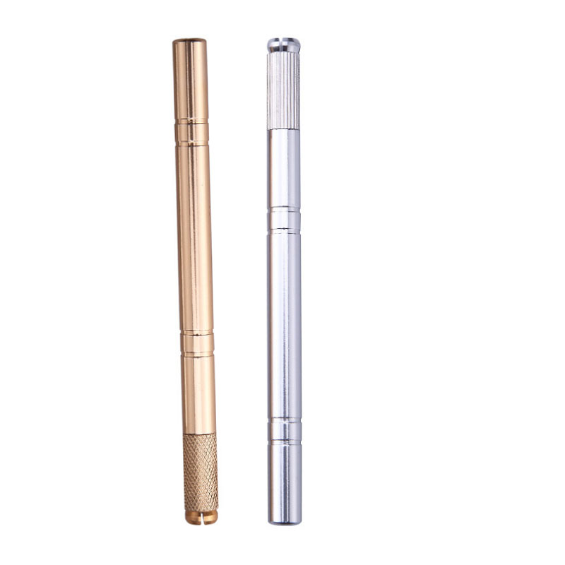 1pc Flex Needle Stainless Lock-Pin Device Manual Permanent Makeup Embroidered Eyebrow Tattoo Pen Tebori Microblading Pen