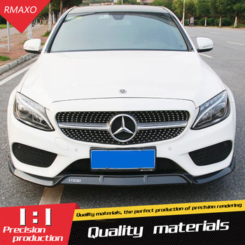 For Mercedes-Benz W205 front Bumper Diffuser Bumpers Protector For Benz C-Class C200 C180 Body kit bumper Before Rear lipspoiler