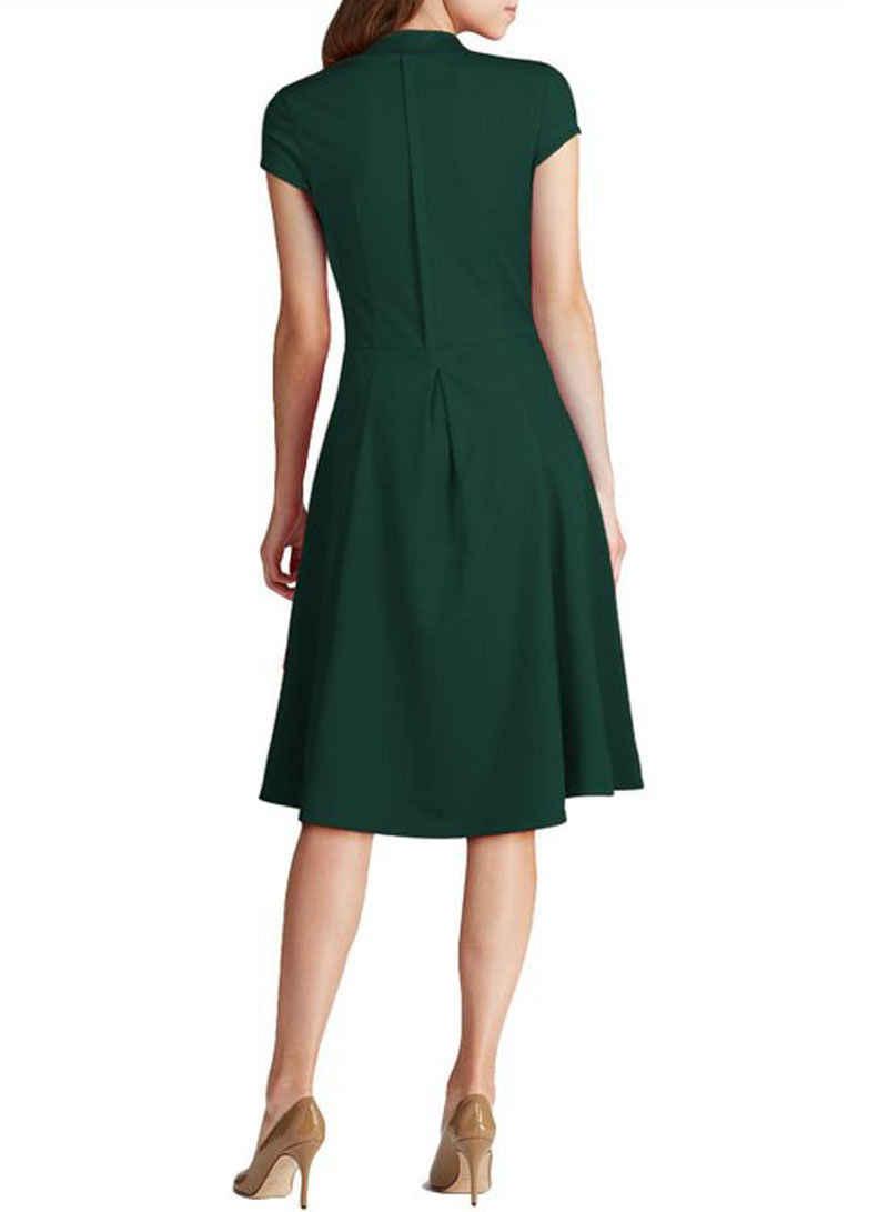 994cd0f80b ... Fashion Vintage Retro Women Dress 1940s Shirtwaist Flared Party Tea  elegant Formal Dress Women Summer Dresses