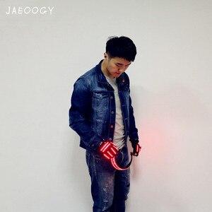Image 3 - Gafas LED con remaches para fiesta, accesorios para Club de baile, disfraces, iluminación de Noche de Brujas, Envío Gratis
