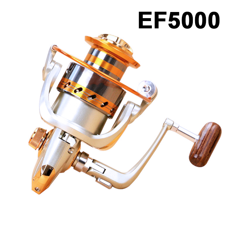 Spinning Fishing Reel EF500-EF7000 12BB Metal Spool Folding Arm Left Right aluminum alloy Ultra-thin(China)