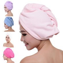 1/4pcs Women Quickly Dry Hair Hat Microfiber Shower Cap Strong Water Absorb Drying Towel HYD88 1 pc hair drying cap lovely solid color quickly dry hair hat