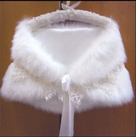 Wedding dress faux fur shawl bride bridesmaid bridal shawl winter thickening cape