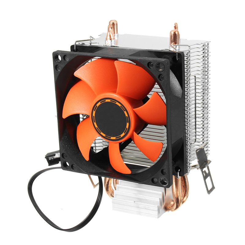 80mm Fan Hydraulic CPU Cooler Heatpipe Fans Silent Heatsink Computer Cooling Radiator For LGA775/1156/1155 AMD/AMD2/AM2+AM3/FM1 double head large 140x140x25mm computer case fans 12 volt 4pin brushless 14cm dc fans chassis fan cooler cooling radiator
